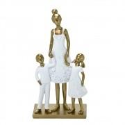 Estatueta decorativa resina mãe e filhos 257-142 Mabruk