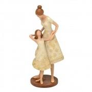 Estatueta decorativa resina mãe com filha 257-125 Mabruk