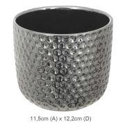 Vaso Cerâmica Grafite 11,5Cm - 34246001