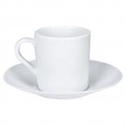 Xícara e Pires Para Café Melamine Branca - Yangzi