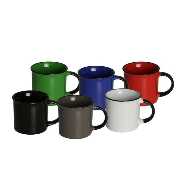Caneca porcelana ágata cores sortidas 70Ml Lyor 8554