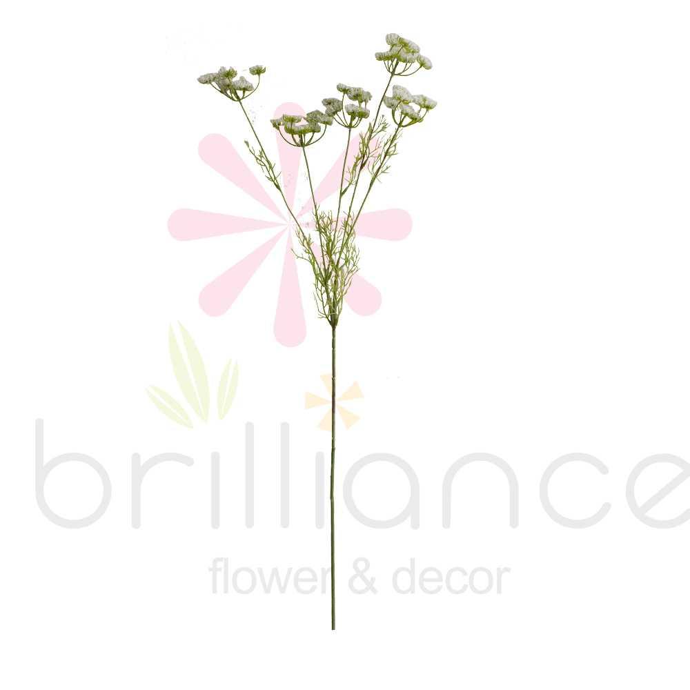Flor Mimosa Branca Artificial - Brilliance