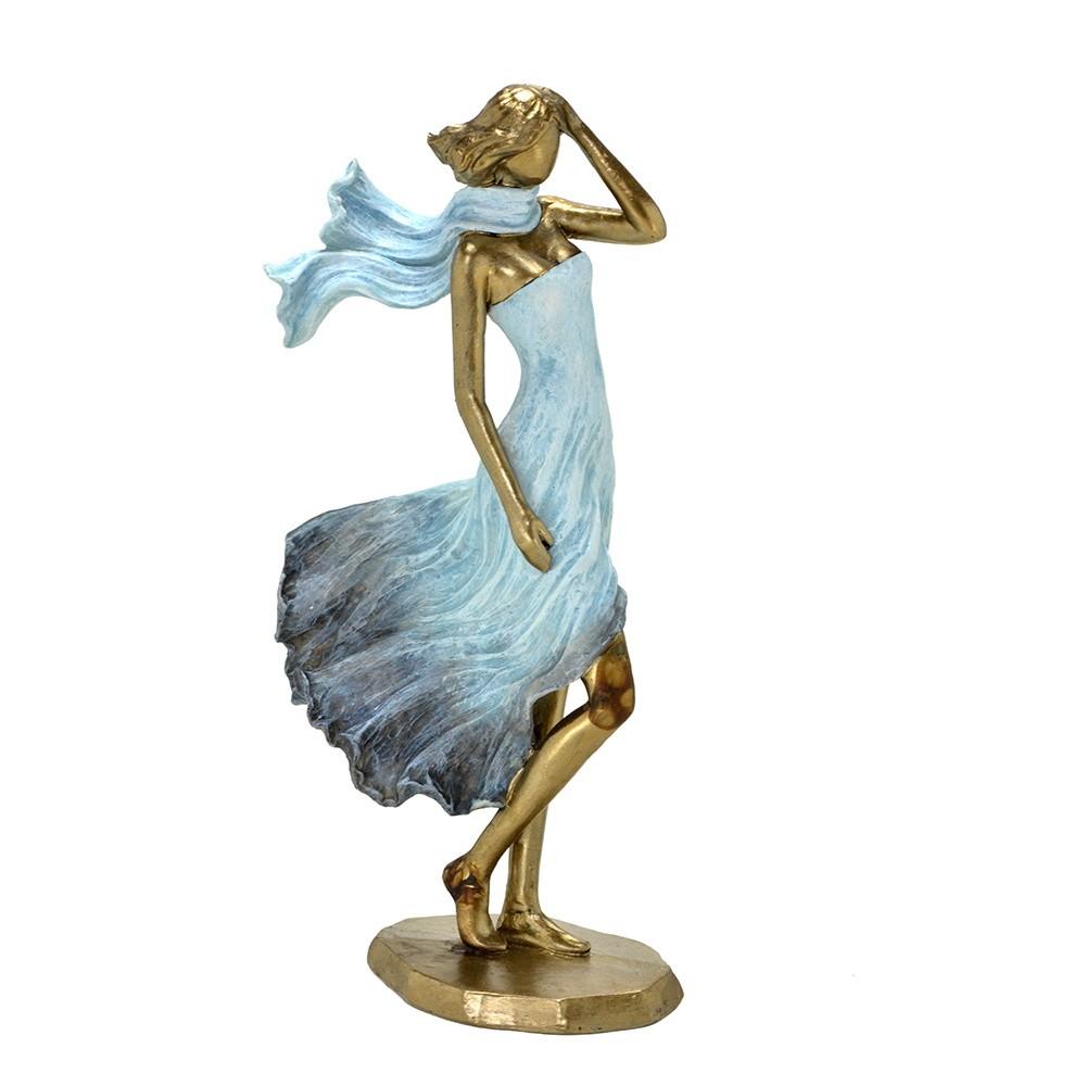 Estatueta decorativa resina mulher de vestido 257-165 Mabruk
