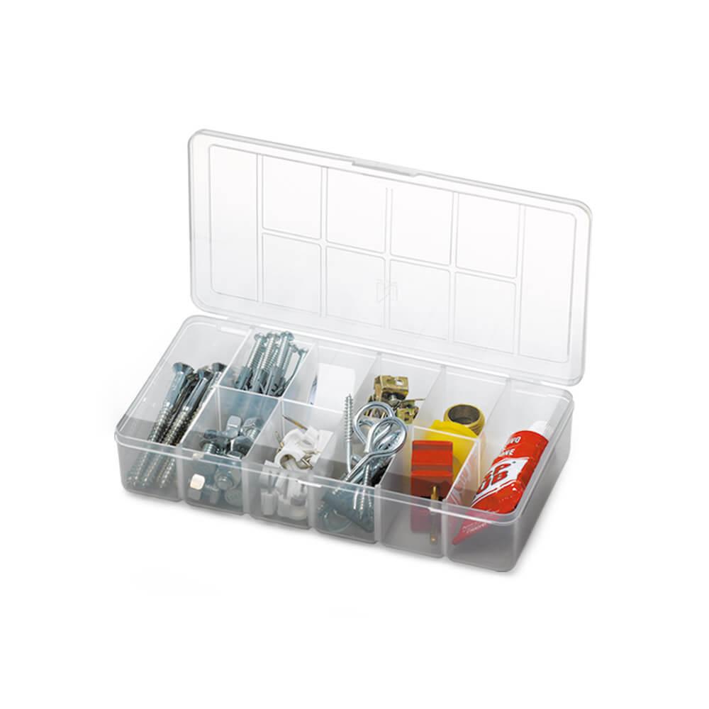 Organizador com 10 divisórias incolor Tudo Pequeno - Nitronplast