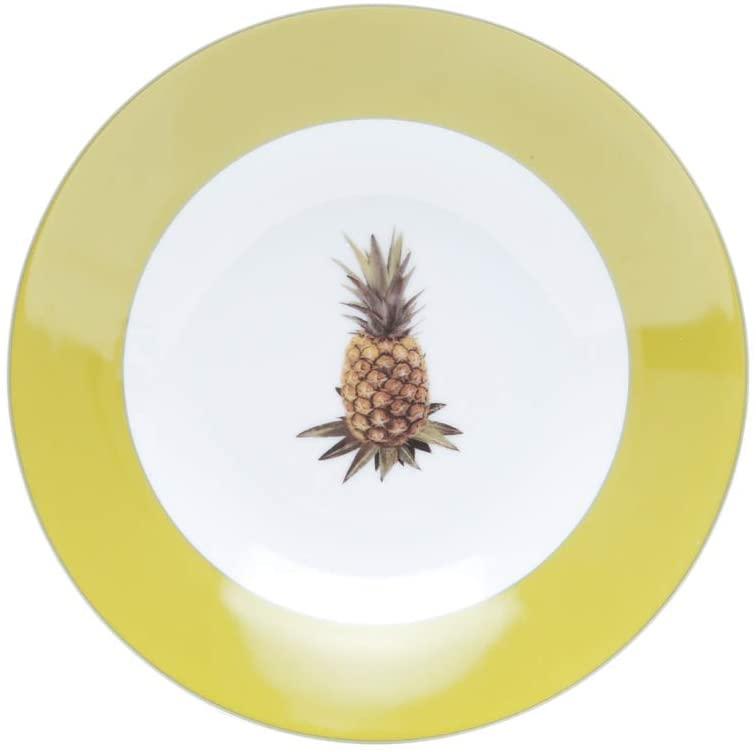 Prato fundo de porcelana super white pineapple 20Cm Lyor