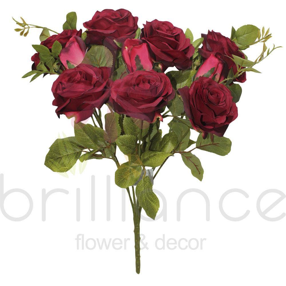 Rosa Diana Vermelha 50Cm Artificial Sh367Vme