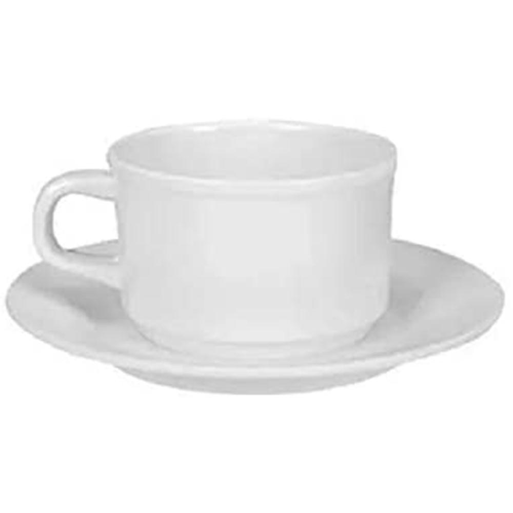Xícara Chá Pires Melamine Branca - Yangzi