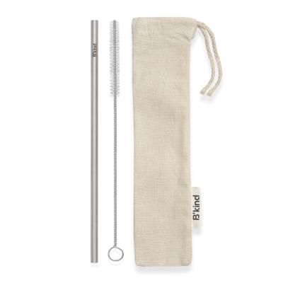 Eco Canudo Bkind Aço Inox 304 Puro + Escova Easy Clean + Eco Bag