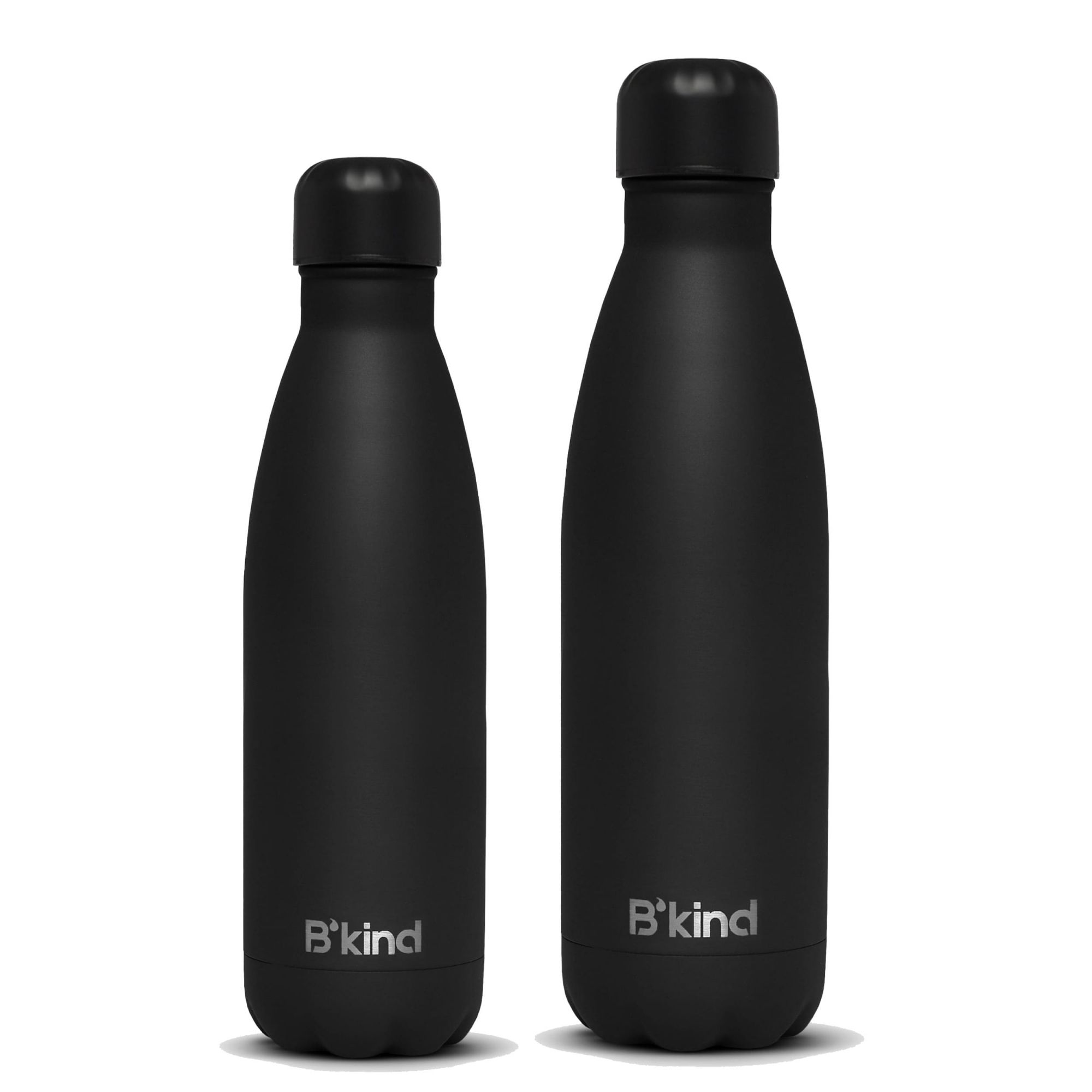 Garrafa Térmica B'kind All Black 500ml + 750ml