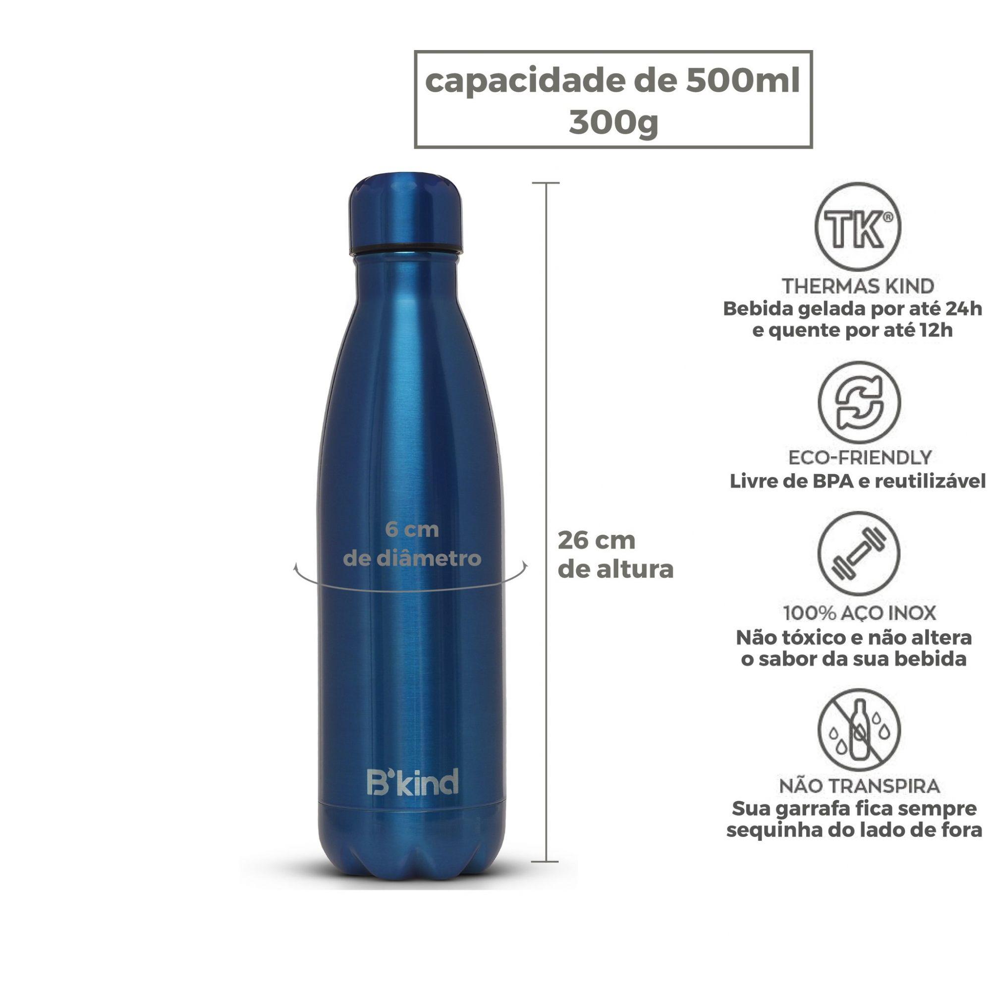 Garrafa Térmica B'kind All Blue 500ml + 750ml