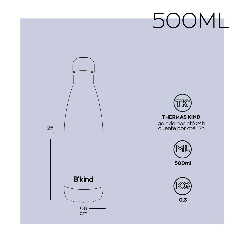 Garrafa Térmica B'kind Champagne 500ml + 750ml