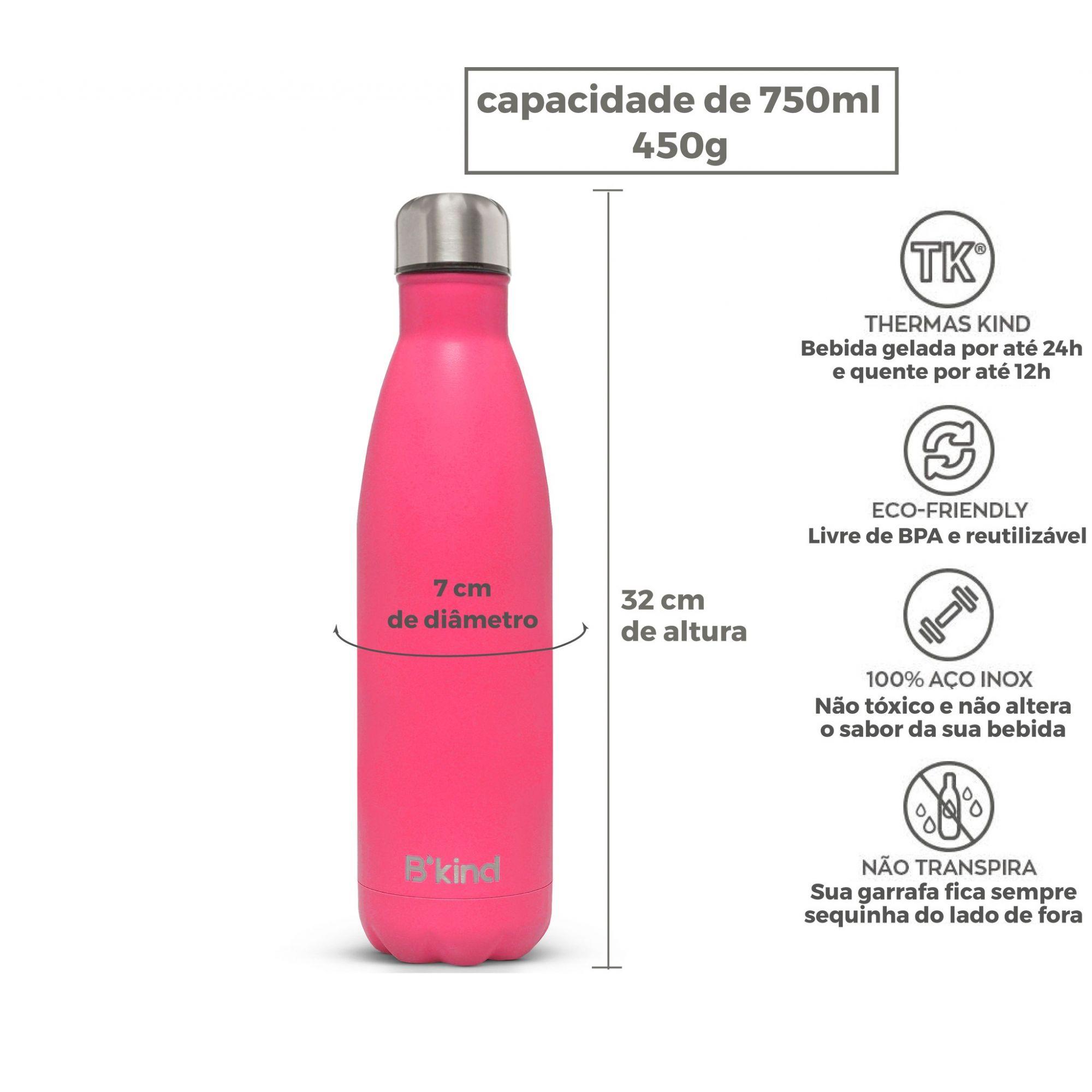 Garrafa Térmica B'Kind Pink Tropez