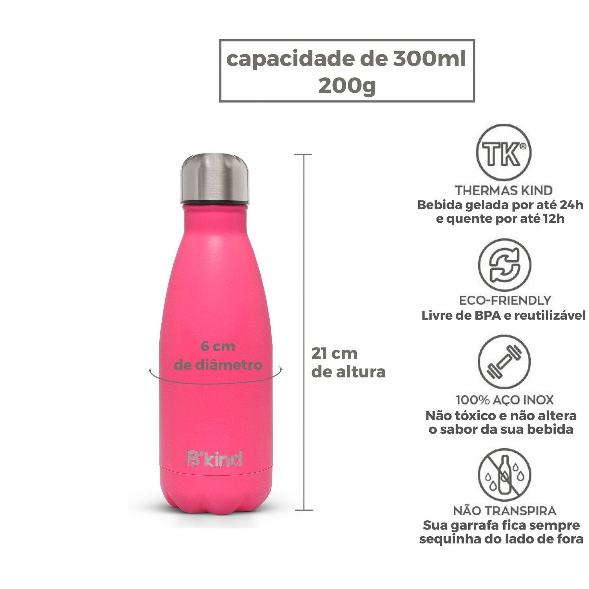 Garrafa Térmica B'Kind Pink Tropez Personalizada