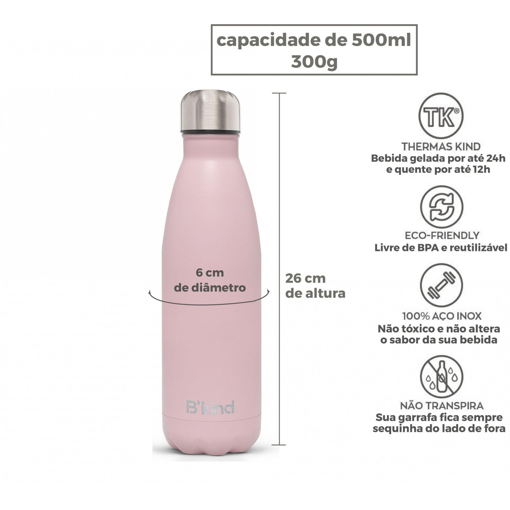 Garrafa Térmica B'Kind Rosa Areia