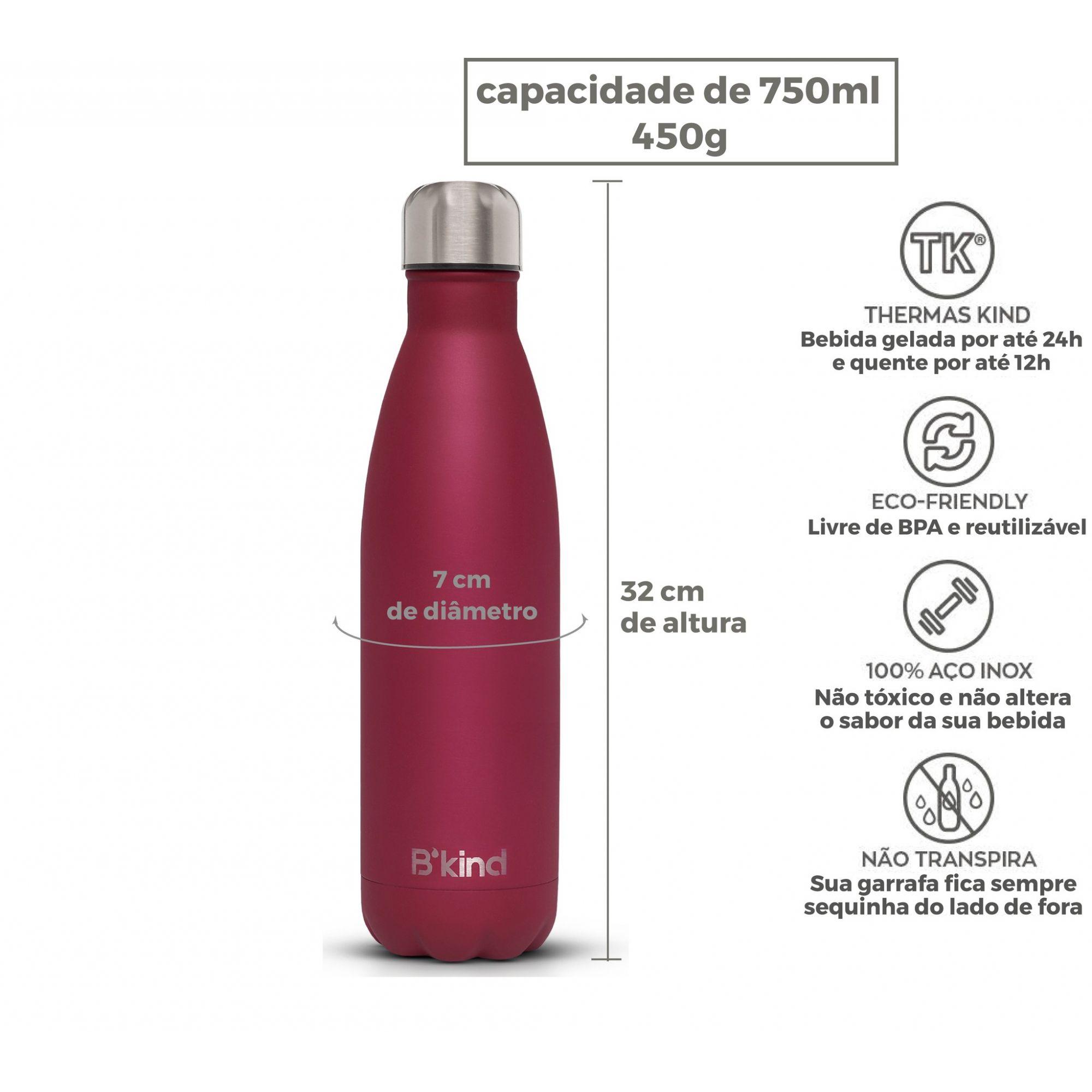 Garrafa Térmica B'kind Rouge Passion 500ml + 750ml