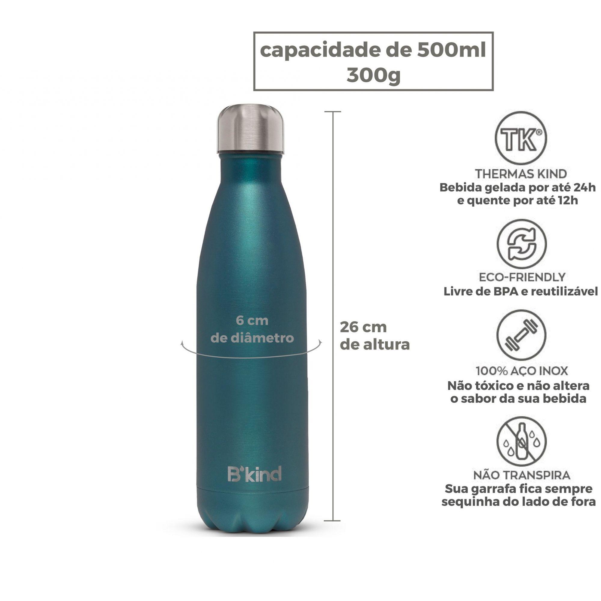 Garrafa Térmica B'kind Verde Amazon