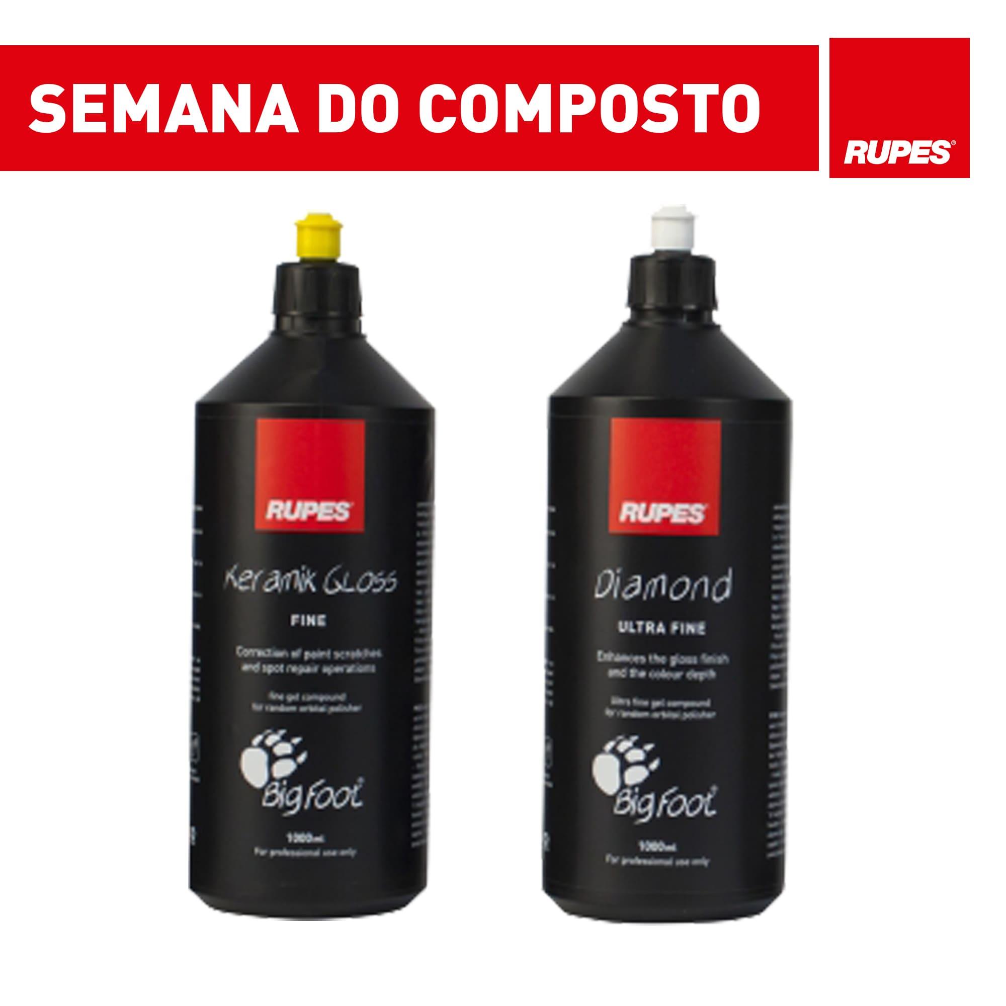 KIT com 2 Compostos Rupes - Lustro e Super lustro - Promoção Semana do Composto  - Rupes Brasil