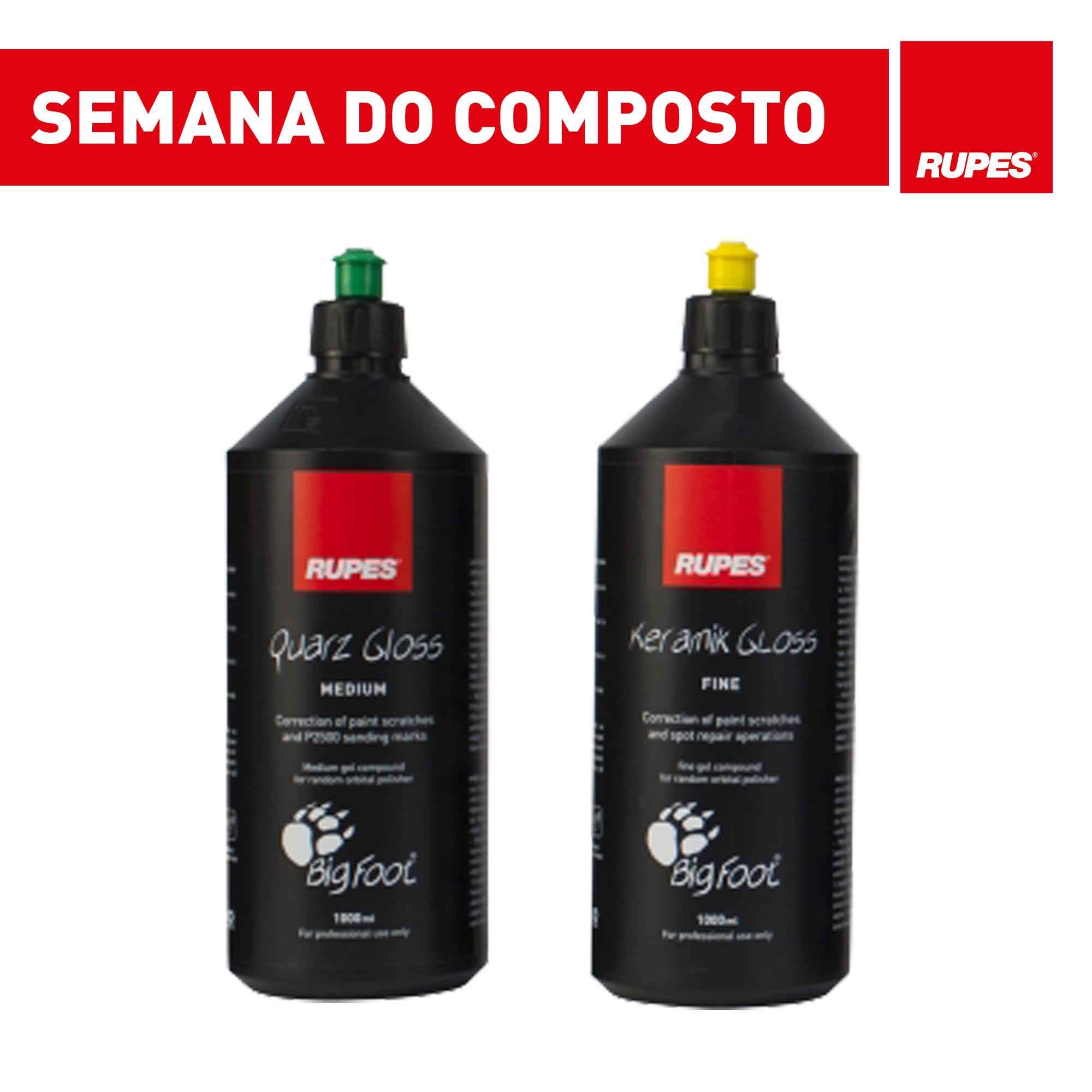 KIT com 2 Compostos Rupes - Refino e Lustro - Promoção Semana do Composto  - Rupes Brasil