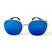 Óculos de Sol Cayo Blanco Feminino Lente Azul