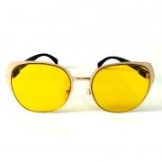 Óculos de Sol Cayo Blanco Feminino Amarelo