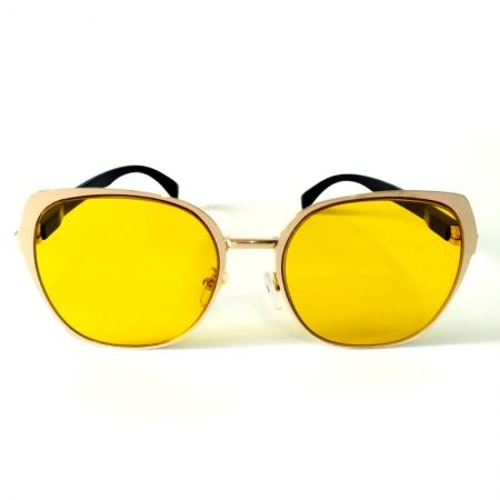 Óculos de Sol Cayo Blanco Feminino Dourado Lente Amarelo