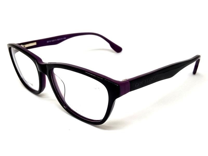 Óculos De Grau Cayo Blanco Preto e Roxo  - Cayo Blanco