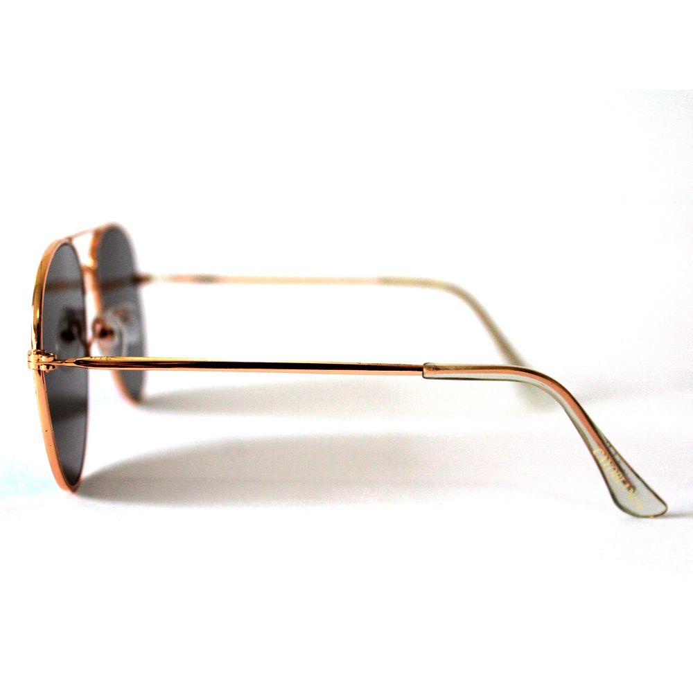 Óculos de Sol Aviador Cayo Blanco Dourado com Lente Espelhada Verde  - Cayo Blanco