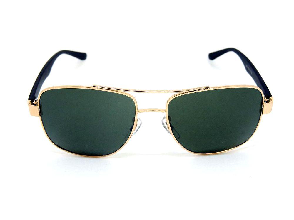 Óculos de Sol Cayo Blanco Dourado e Preto com Lente Verde