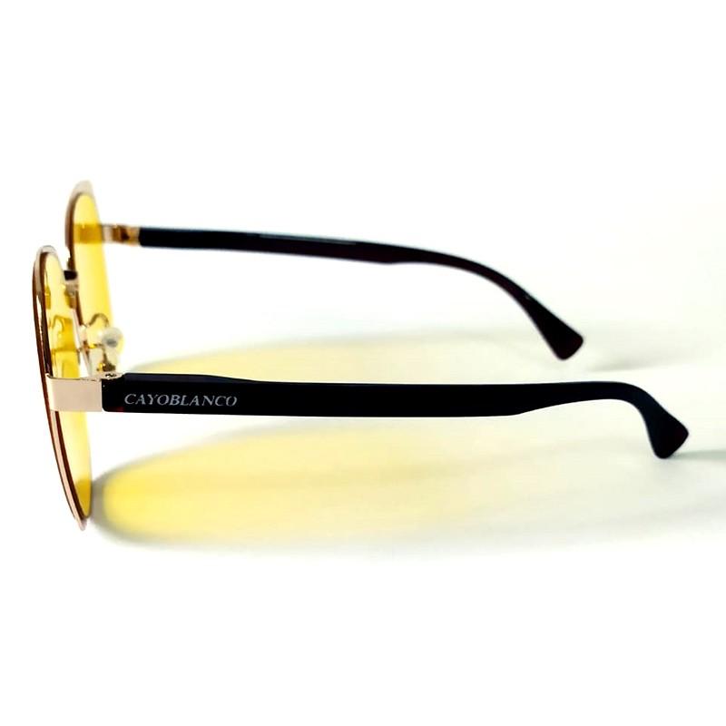 Óculos de Sol Cayo Blanco Feminino Amarelo  - Cayo Blanco