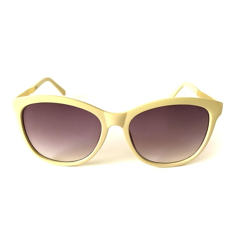 Óculos de Sol Cayo Blanco Feminino Bege Lente Preto