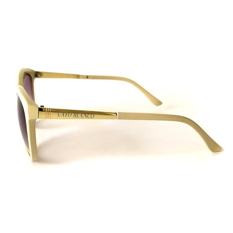 Óculos de Sol Cayo Blanco Feminino Bege Lente Preto   - Cayo Blanco