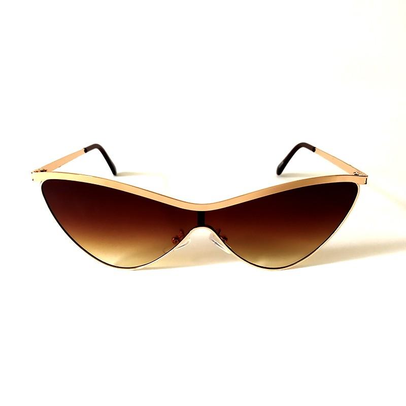Óculos de Sol Cayo Blanco Feminino Dourado Lente Marrom