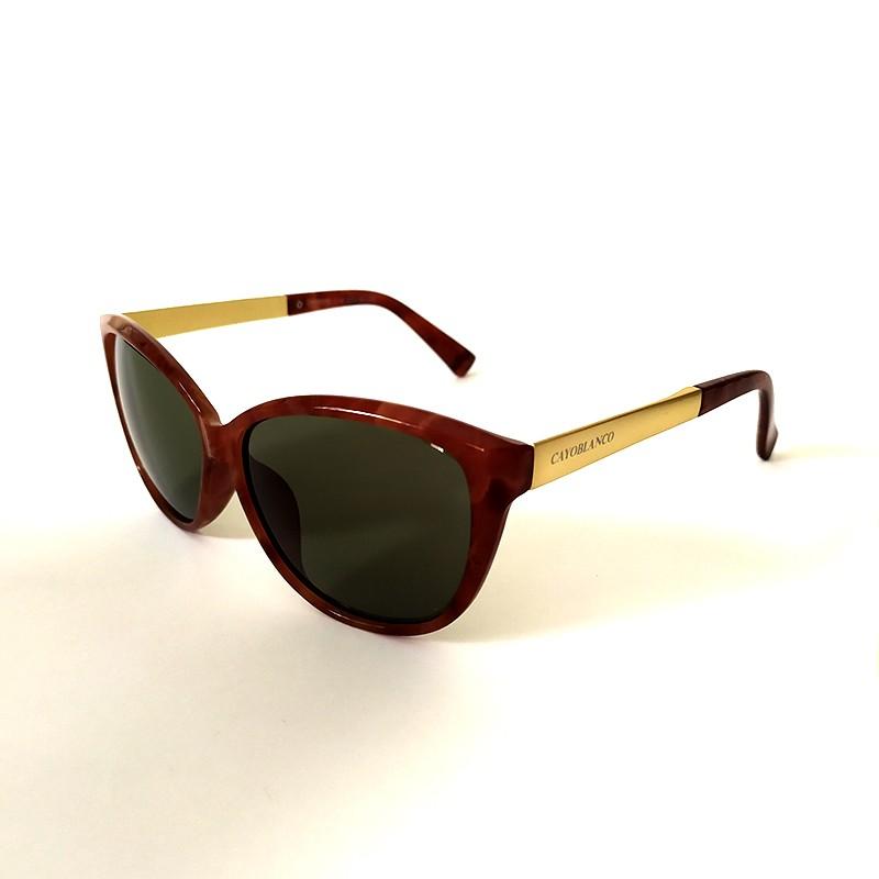 Óculos de Sol Cayo Blanco Feminino Marrom Lente Preto  - Cayo Blanco
