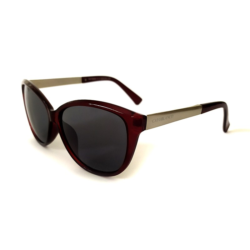 Óculos de Sol Cayo Blanco Feminino Marrom Lente Verde  - Cayo Blanco