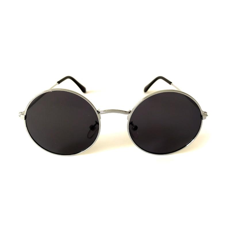 Óculos de Sol Cayo Blanco Feminino Prata Lente Preto