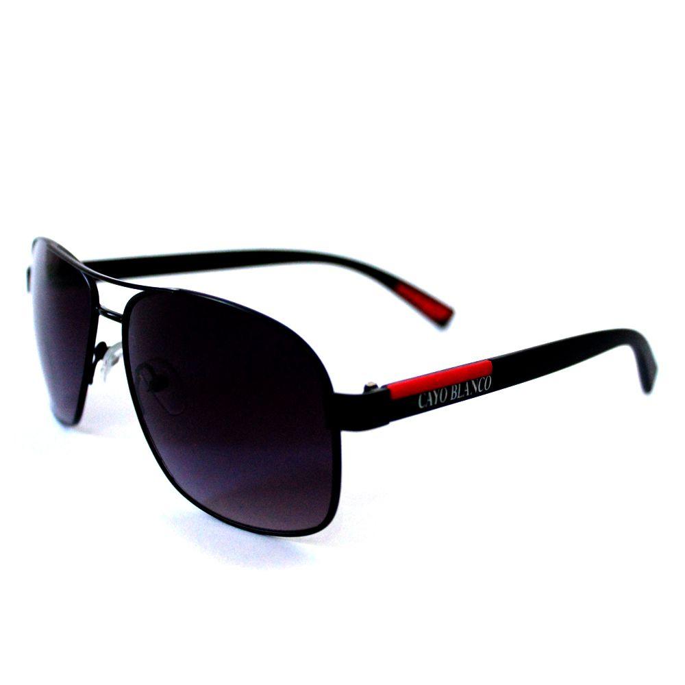 Óculos de Sol Cayo Blanco Preto e Vermelho  - Cayo Blanco