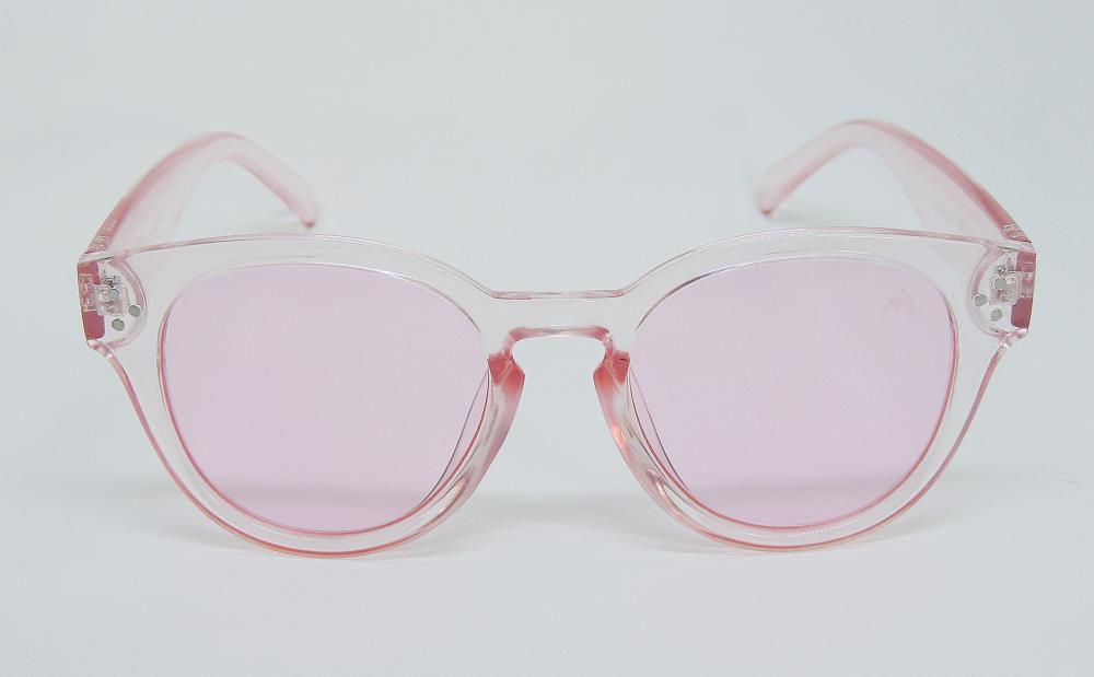 Óculos de Sol Cayo Blanco Redondo Rosa