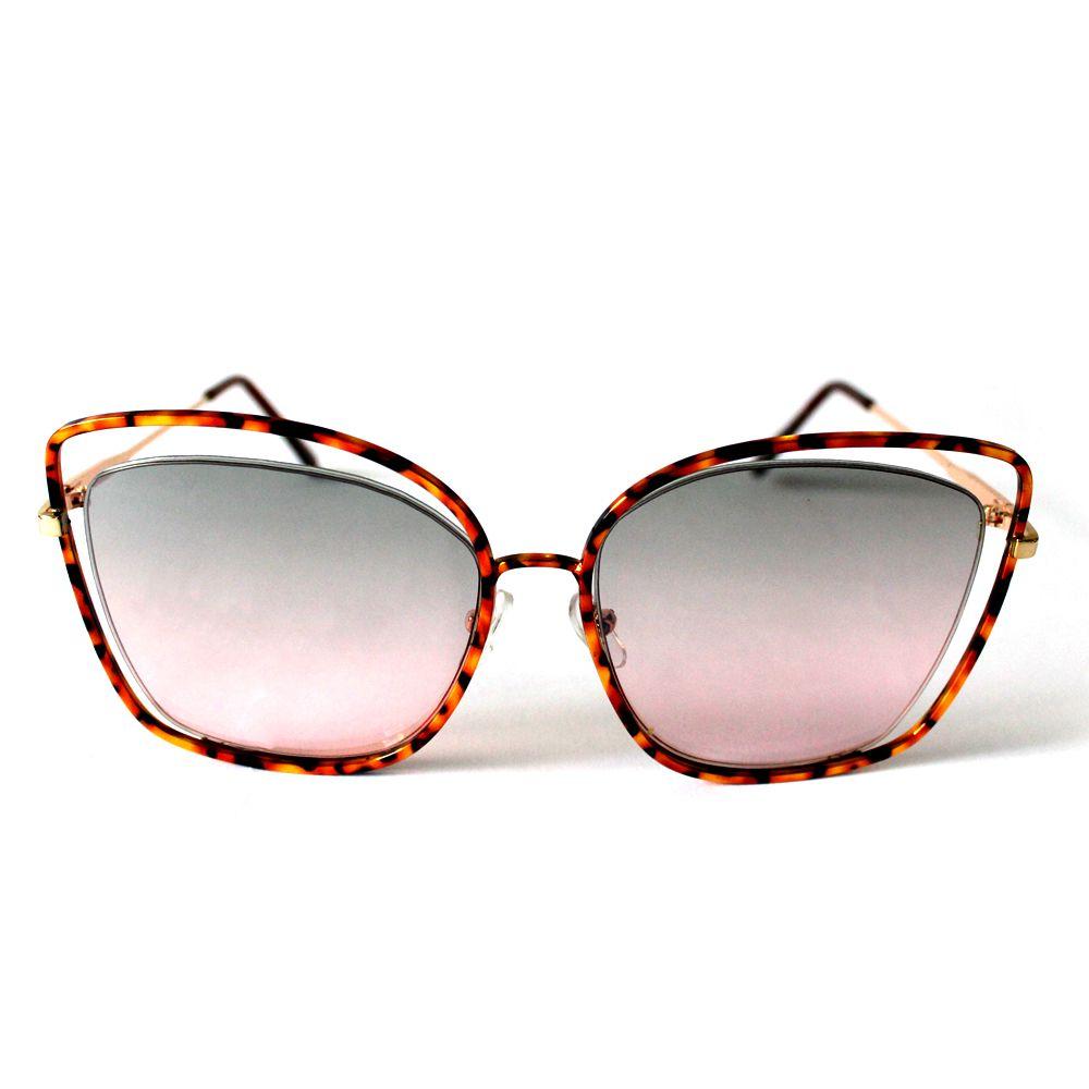 Óculos de Sol Fashion Marrom Cayo Blanco