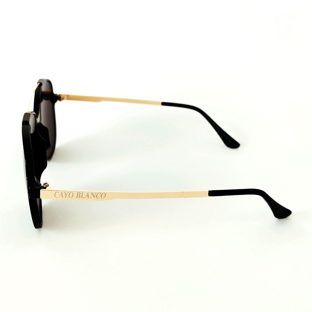 Óculos de Sol Fashion Preto Cayo Blanco  - Cayo Blanco