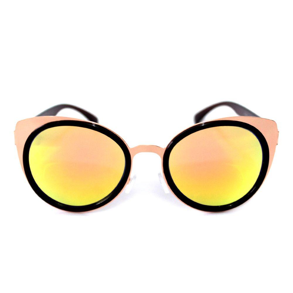 Óculos de Sol Feminino Redondo Fashion Cayo Blanco