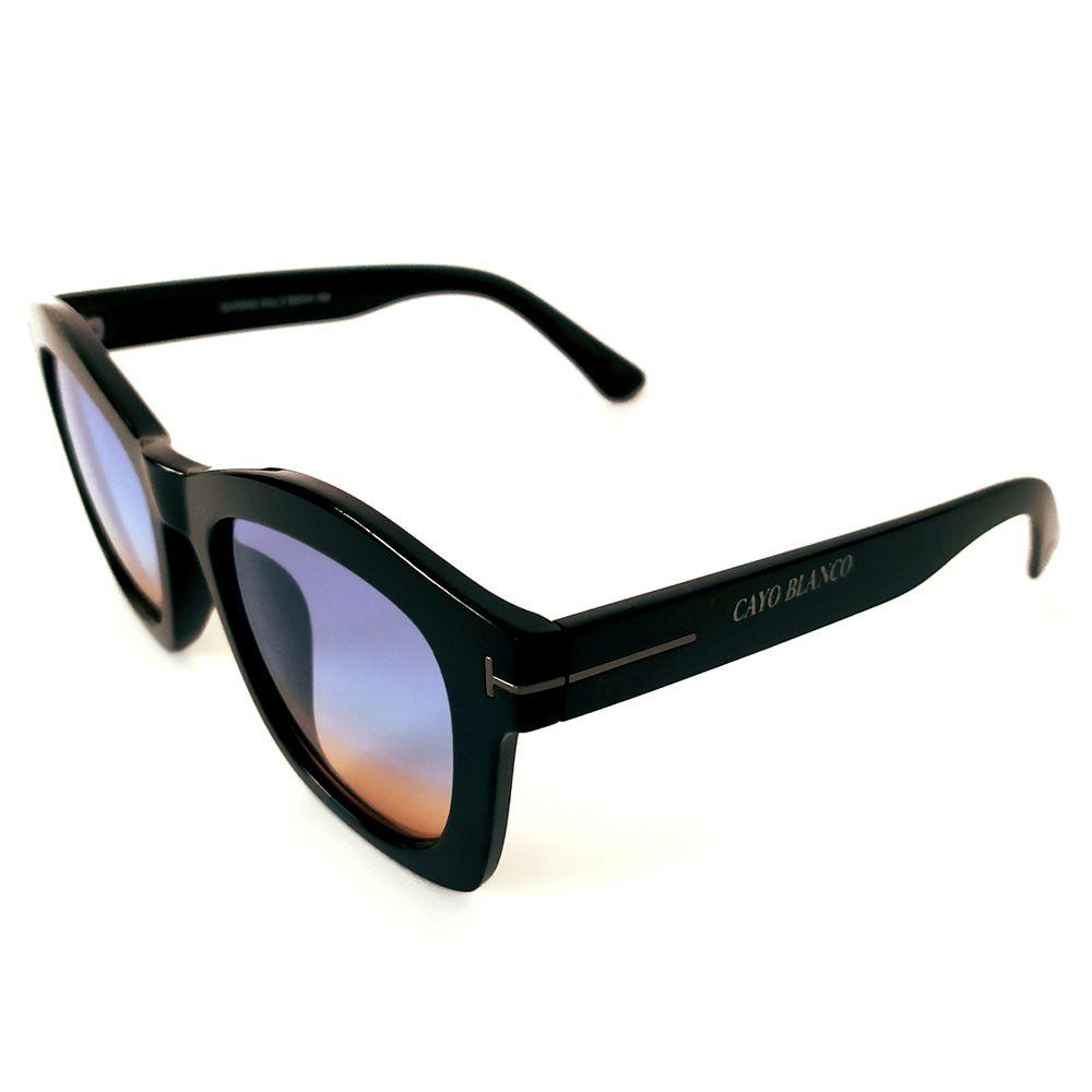 Óculos de Sol Quadrado Preto Cayo Blanco  - Cayo Blanco