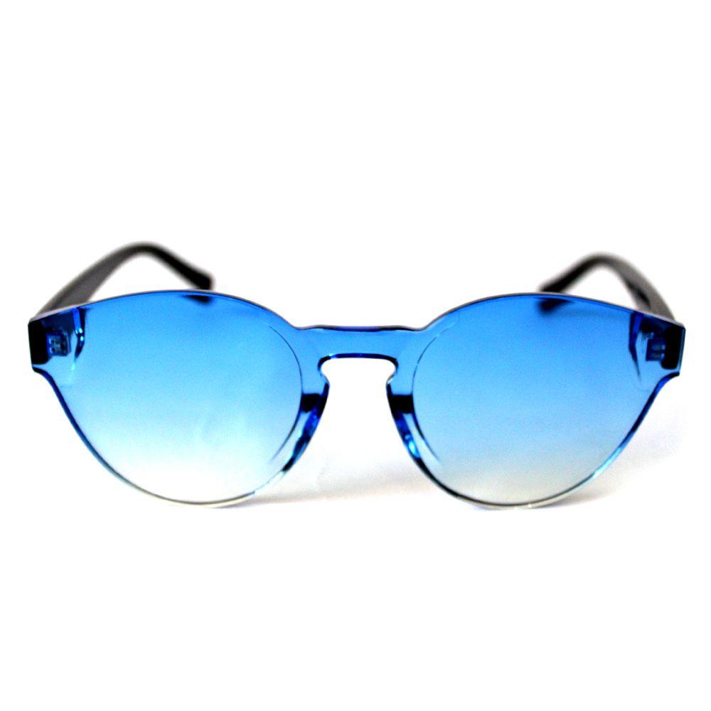 Óculos de Sol Redondo Azul Cayo Blanco