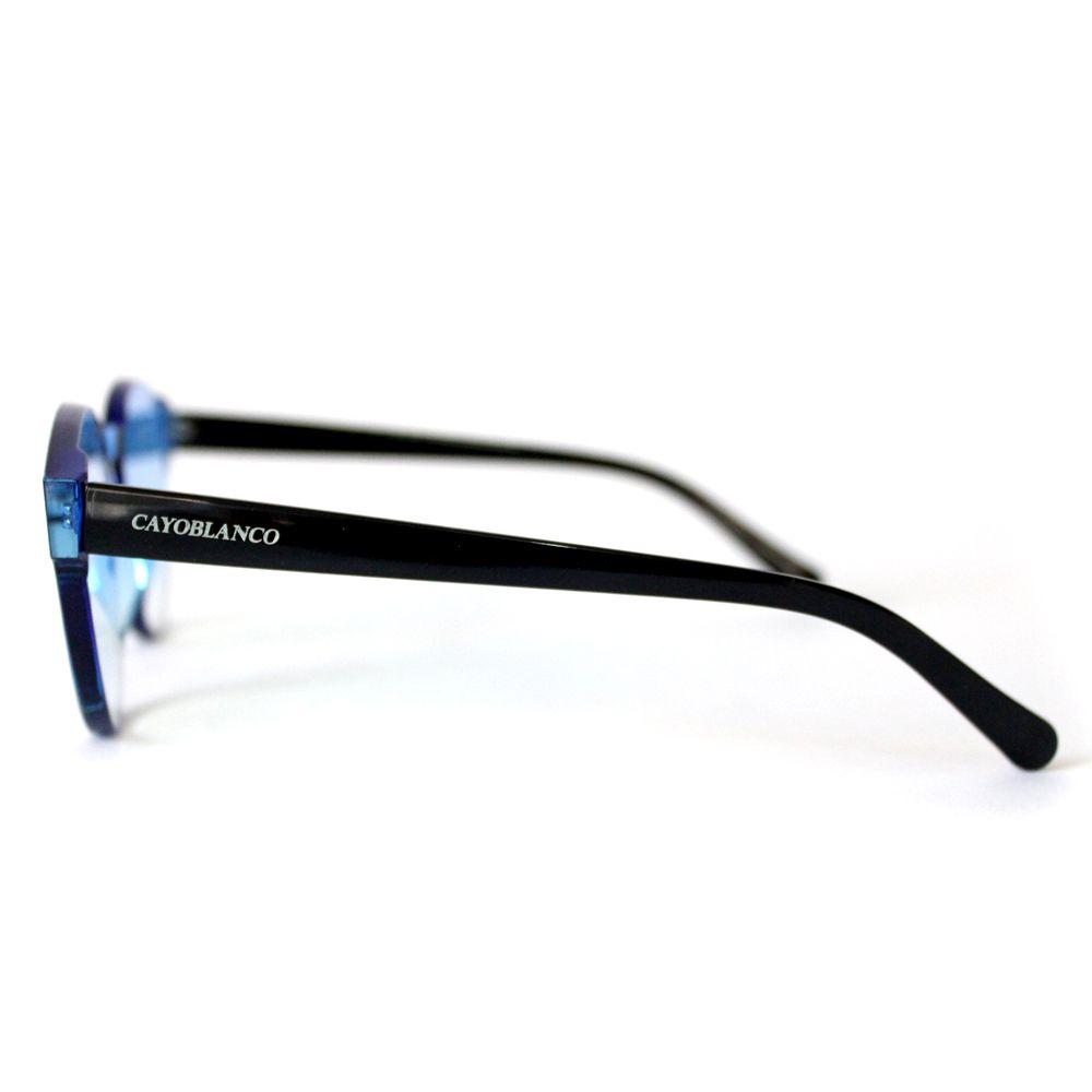 Óculos de Sol Redondo Azul Cayo Blanco  - Cayo Blanco