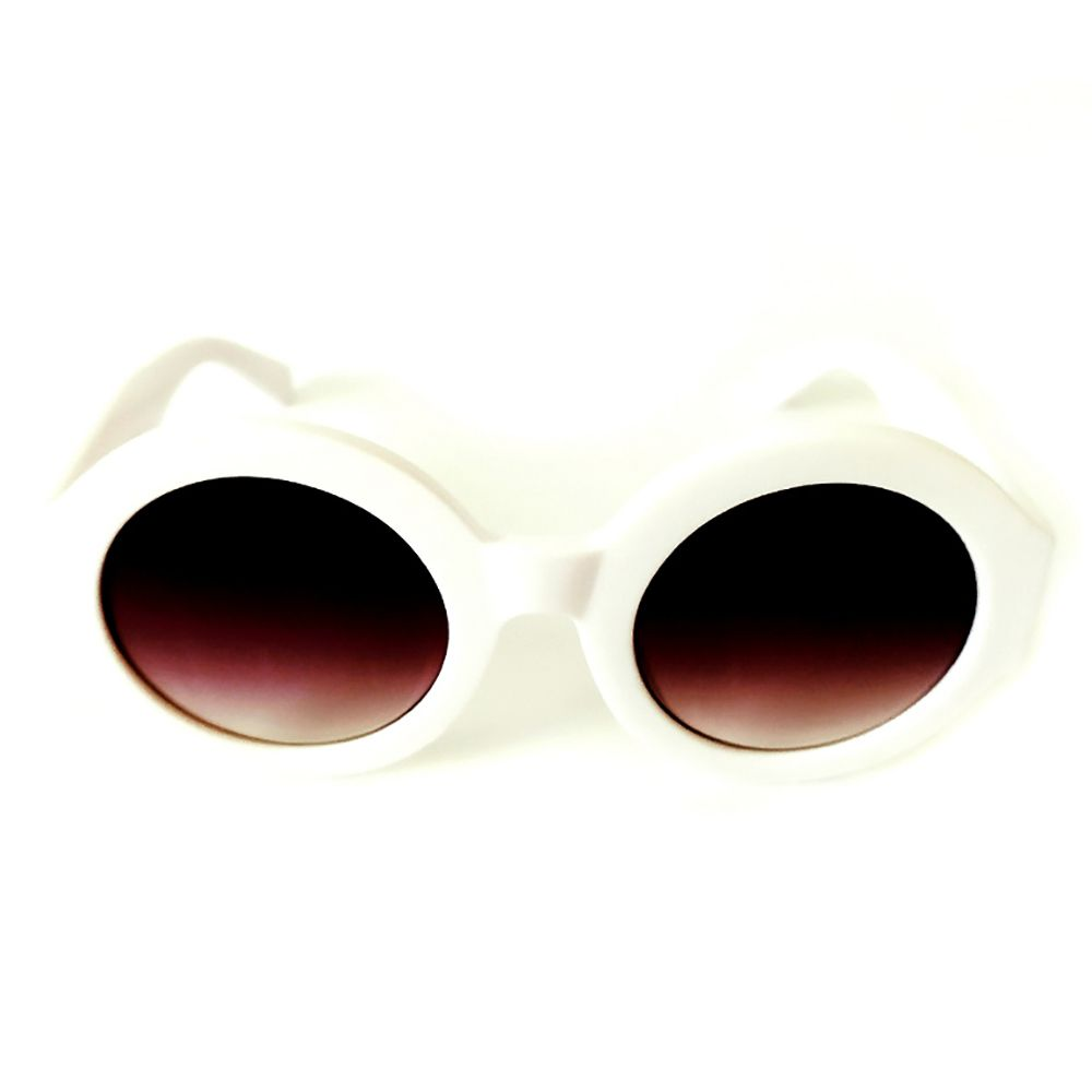 Óculos de Sol Redondo Branco Cayo Blanco