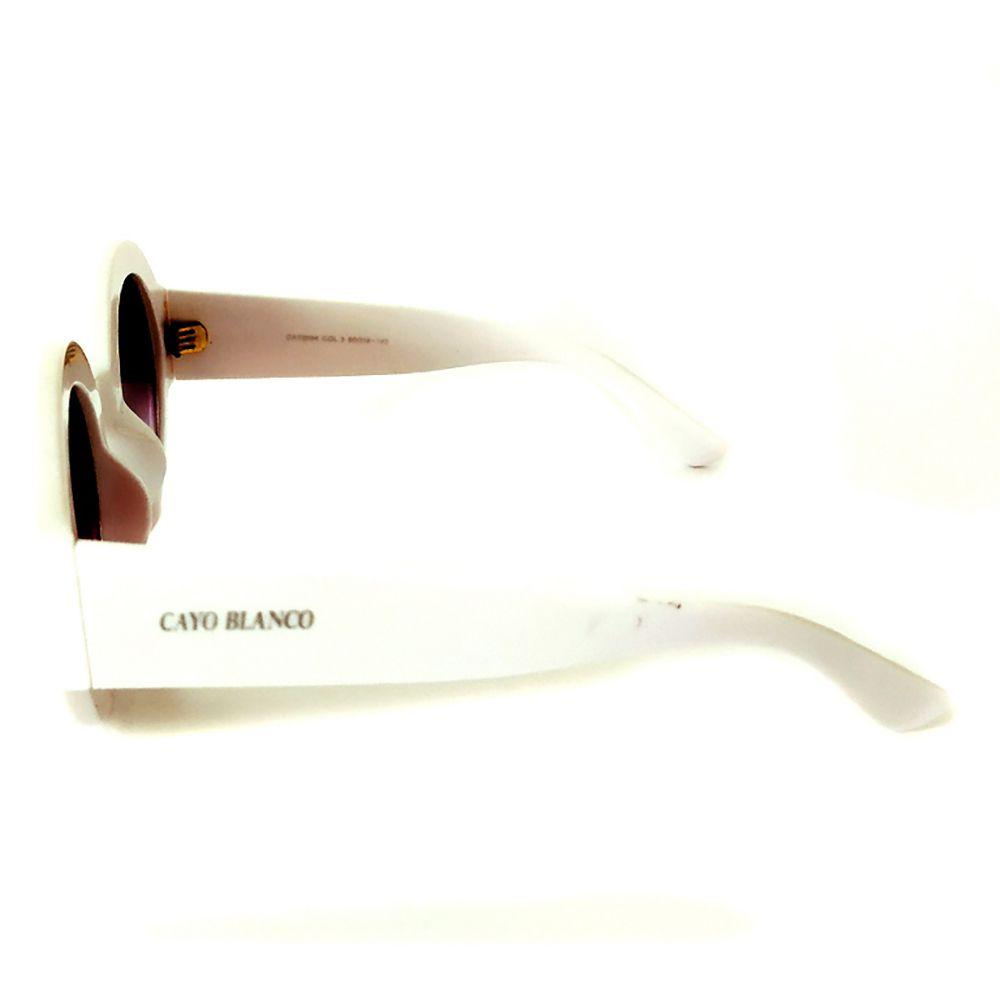 Óculos de Sol Redondo Branco Cayo Blanco  - Cayo Blanco