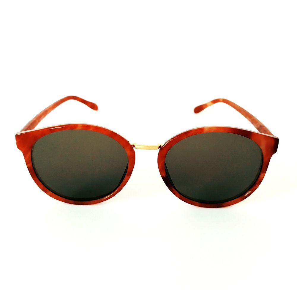 Óculos de Sol Redondo Marrom Cayo Blanco