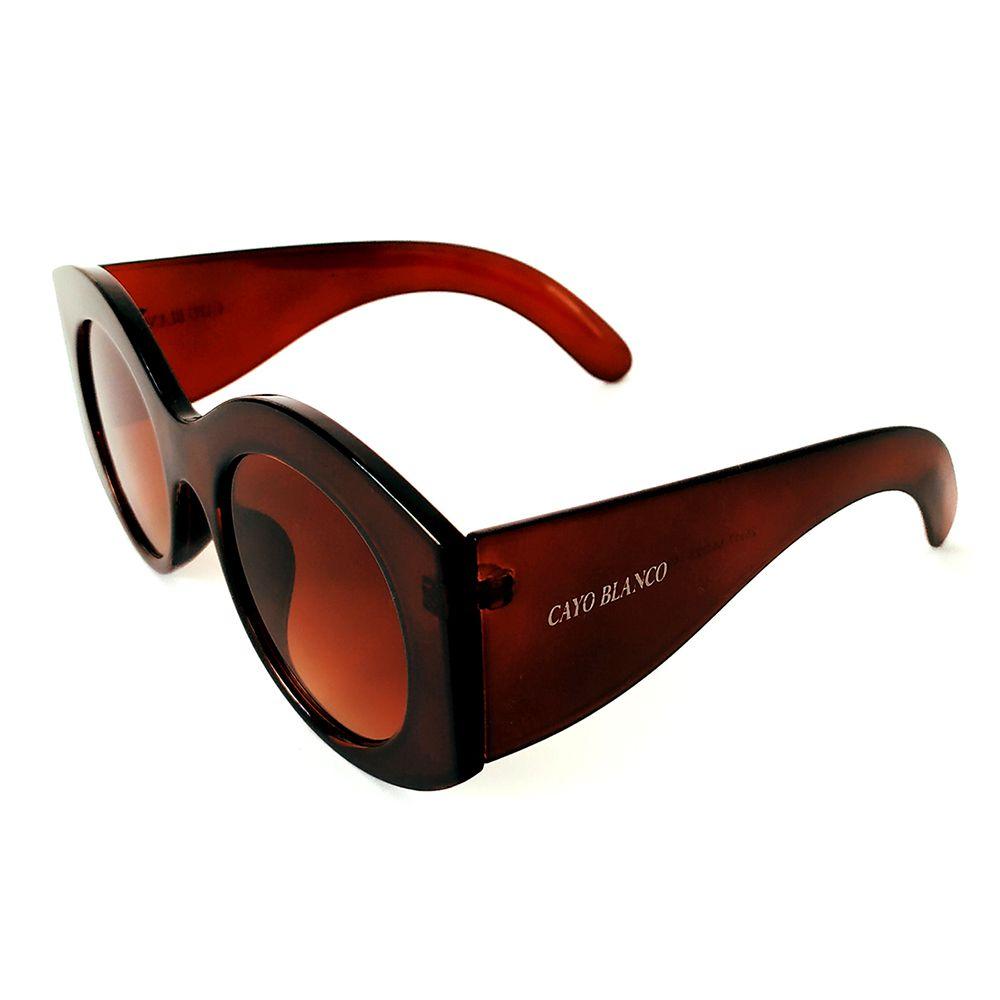 Óculos de Sol Redondo Marrom Cayo Blanco   - Cayo Blanco