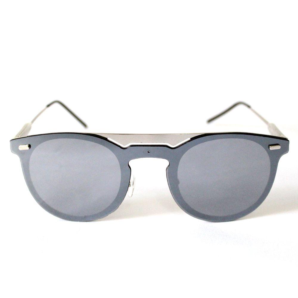 Óculos de Sol Redondo Prata Cayo Blanco  - Cayo Blanco
