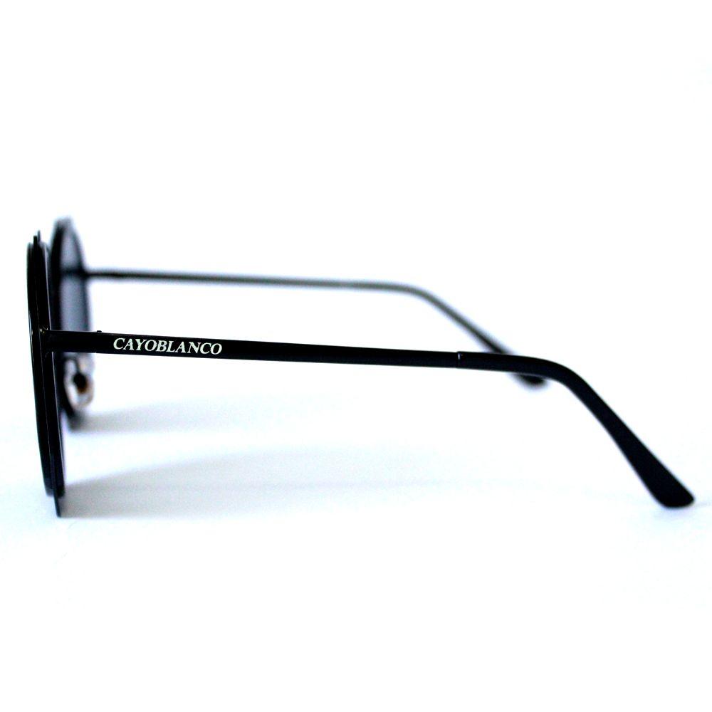 Óculos de Sol Redondo Preto Cayo Blanco  - Cayo Blanco
