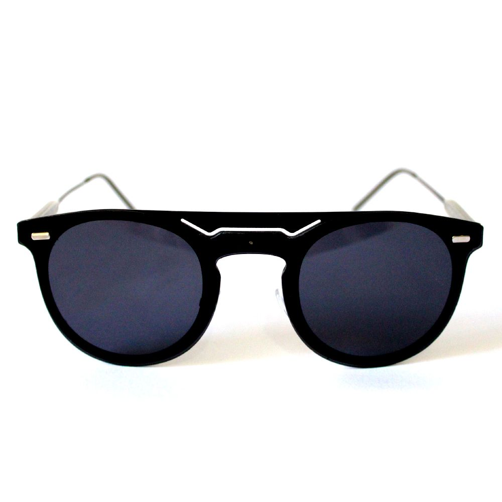 Óculos de Sol Redondo Preto Cayo Blanco